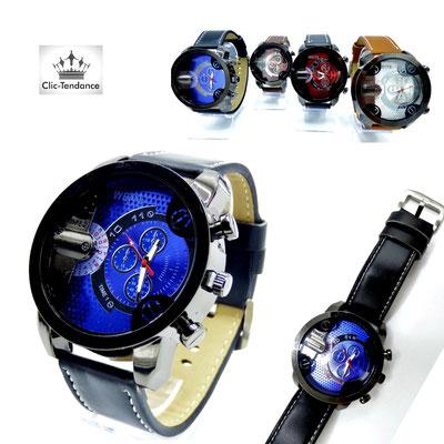 montre quartz tendance bracelet cuir