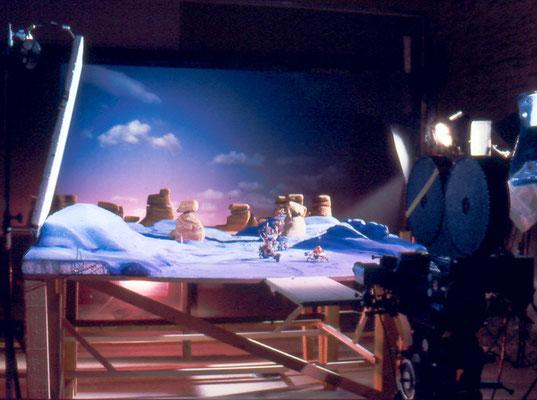 Rétro-projection du ciel avec un projecteur de diapositive