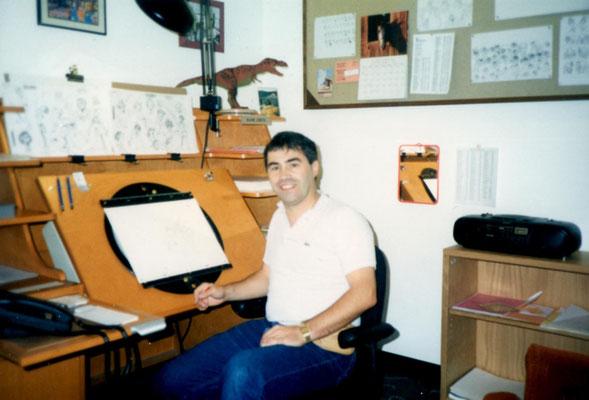 At Walt Disney studio in Burbank