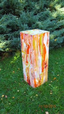 Kubus orange-weiss, verkauft