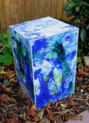 Kubus blau, 65 x 30 x 30 cm