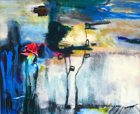Landschaft, Acryl auf LW, 50x70cm