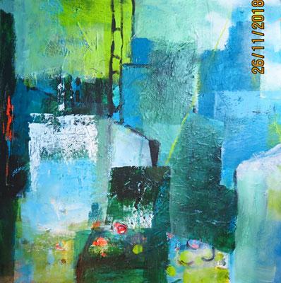 Ohne Titel, Acryl auf LW, 70x70 cm