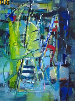 Boot, Acryl auf LW, 95 x 70 cm