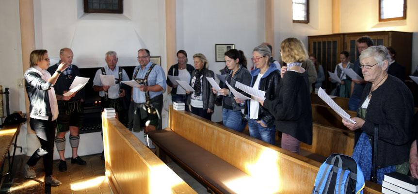 Chorausflug des Kirchenchors St. Clemens Eschenlohe auf die Frauen-Insel im Chiemsee
