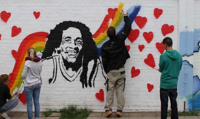 Graffiti Projekt mit Jugendlichen in Witten