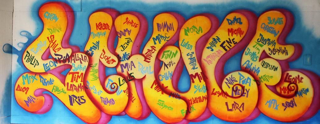 Graffiti Projekt mit Kindern in Witten