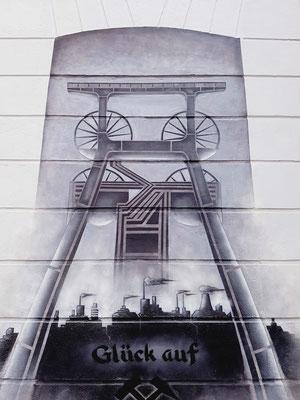 Förderturm Wandgestaltung in Bochum