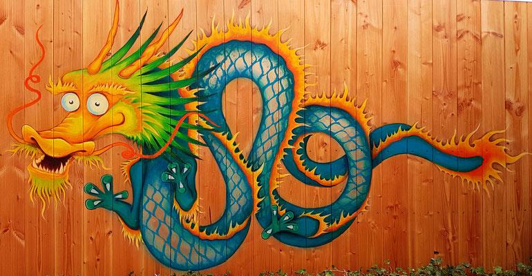 Private Drachen Wandgestaltung in Witten