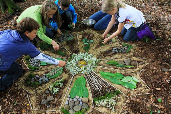 Land Art Projekt mit Kindern in Witten