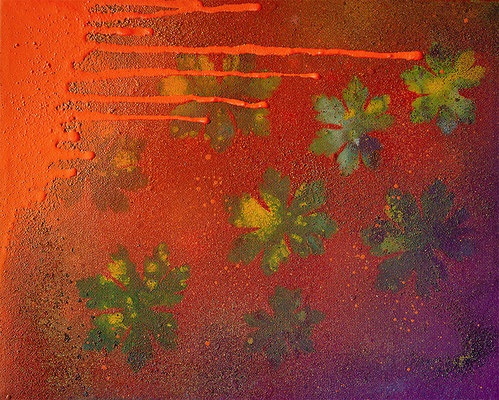 florales urban Landart Gemälde 2019