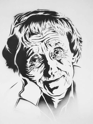 Urban Art, Astrid Lindgren Portrait