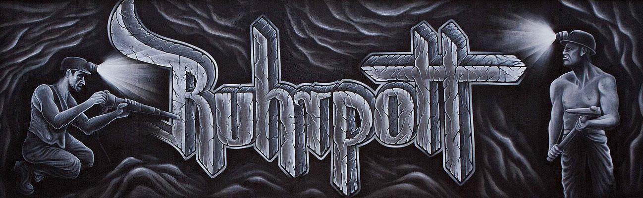 Ruhrpott Graffiti Wandgestaltung in Bochum