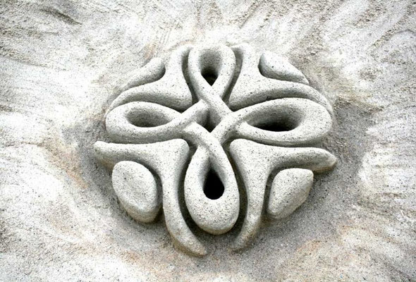Sandkunst Mandala
