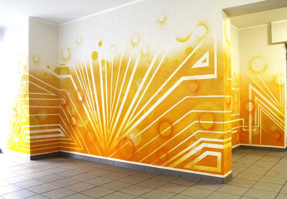 Foyer Gestaltung im Wohnhaus.