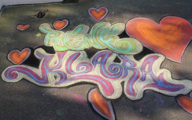 Straßenmalerei Projekt mit Jugendlichen in Herdecke