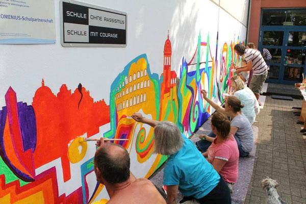 Kunst im Team für soziale Einrichtungen