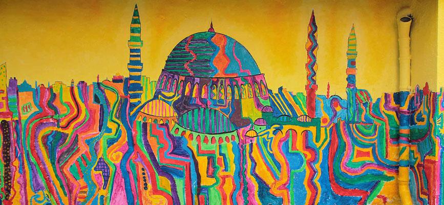 Kunstprojekt mit Kindern in Istanbul