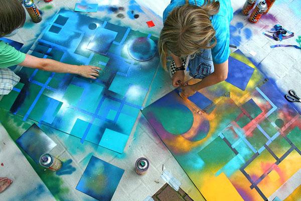 Street Art/Graffiti Projekt mit Kindern in Witten