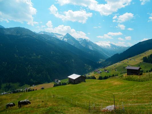 ruhige Lage im Ferienhaus Tux Samerhof - oberhalb von Vorderlanersbach