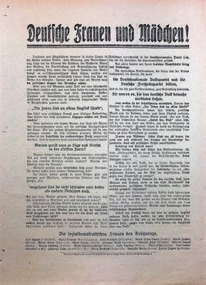 Flugblatt von 1919