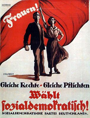 SPD-Plakat 1919 von Gottlieb Kirchbach