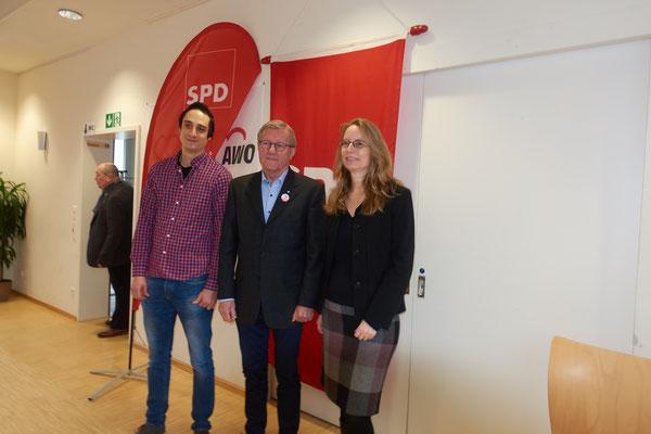 Simon Hilner, Wilhelm Schmidt, Kistin Wandelt (von links)