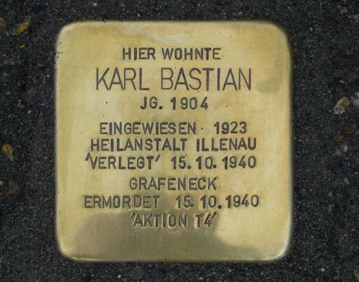 Stolperstein für Karl Bastian