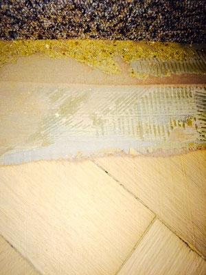 Fischgrätparkett mit Ausgleichmasse
