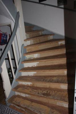 Treppe schleifen Holunderweg Spandau Berlin