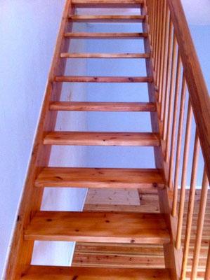 Treppe geschliffen und versiegelt