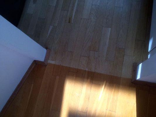 Stabparkett mit alter abgenutzter Versiegelung Johann Siegesmund Str Wilmersdorf Berlin: 75 qm