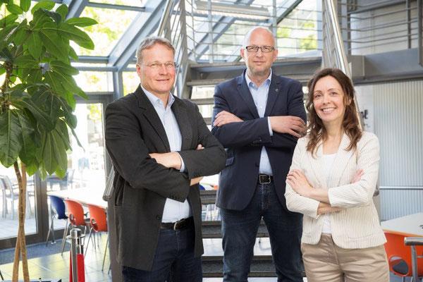 Unsere Geschäftsleitung: Holger Denzau, Karsten Reinholz und Anja Harms (v. links)