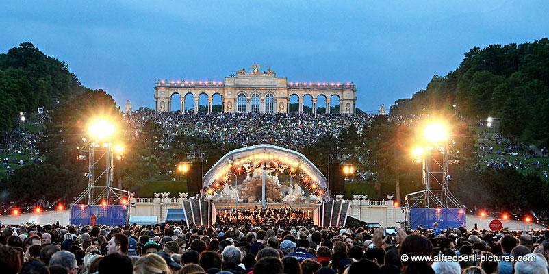 Sommernachtskonzert in Schönbrunn in Wien 2015