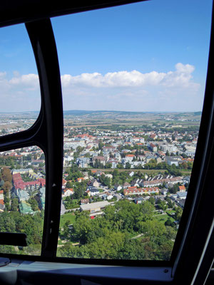 Hubschrauberflug über Korneuburg