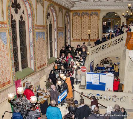 Chorvereinigung pro musica beim Mittelalterlichen Advent im Korneuburger Rathaus