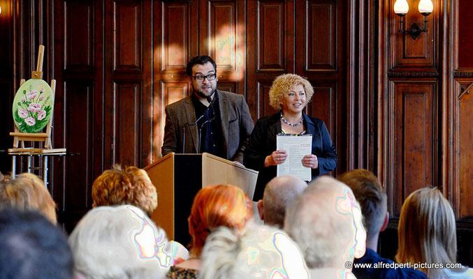 Florian Koller und Ludmilla Wingelmaier - Vernissage 11. Korneuburger Kunstkilometer im Korneuburger Rathaus