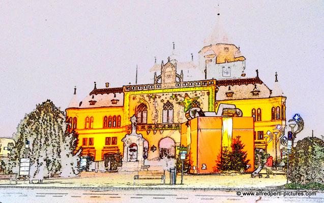Korneuburger Rathaus im Advent