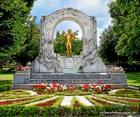 Johann-Strauß-Denkmal im Wiener Stadtpark