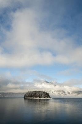 Walchensee, Insel Sassau und Herzogstand im Winter III