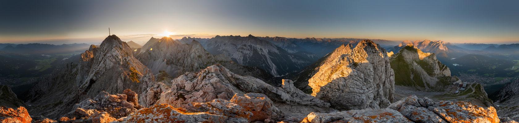 Sonnenaufgang über dem Karwendel, westl. Karwendelspitze / Deutschland (Bildnummer 180727)