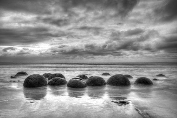 Moeraki Boulders, runde Steinformationen unbekannter Entstehung / Neuseeland (Bildnummer 99991)