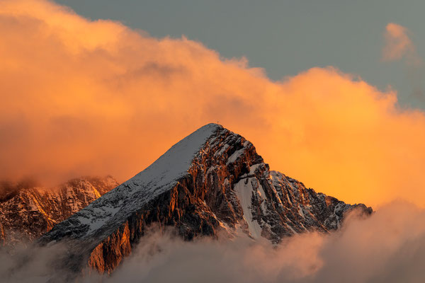 Alpenglühen an der Alpspitze