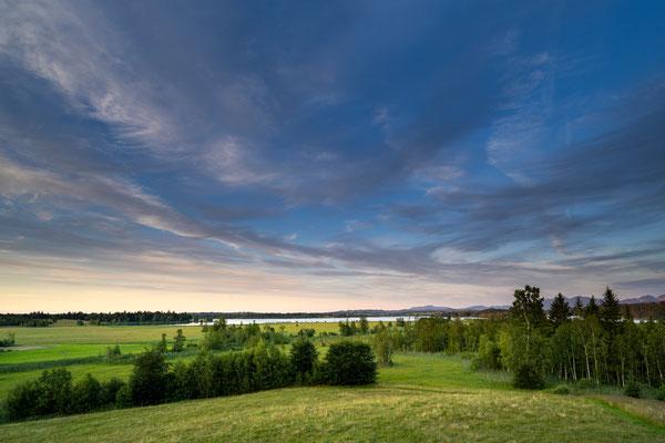 Abendlicher Blick zum Staffelsee