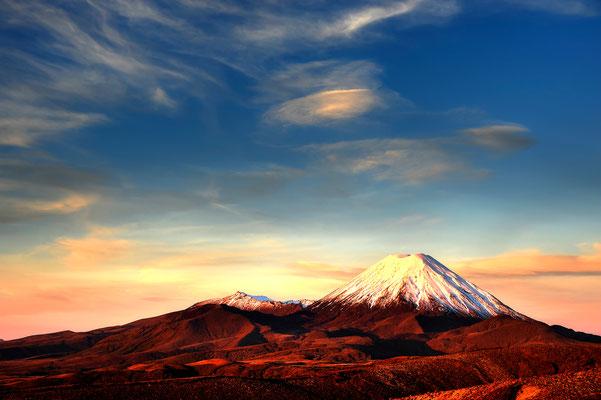 Mount Ngauruhoe (2291m) im Tongariro National Park / Neuseeland (Bildnummer 5408_09)