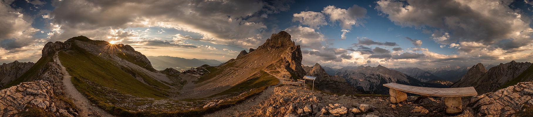 Abendstimmung am Panoramasteig des westl. Karwendel / Deutschland (Bildnummer )