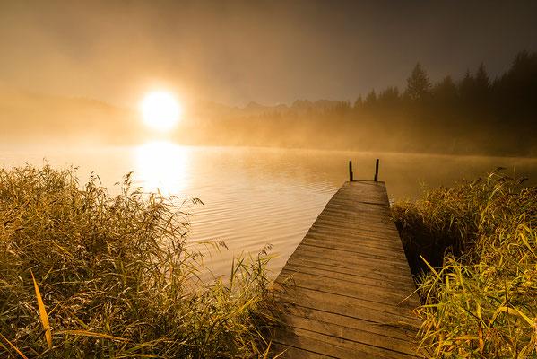 Sonnenaufgang am Geroldsee / Deutschland (Bildnummer 8085)