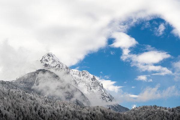 Wetterstein von Mittenwald aus gesehen