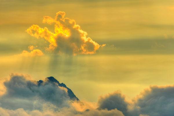 Licht- und Wolkenstimmung von der Birkkarspitze aus beobachtet / Österreich (Bildnummer 4802_3)