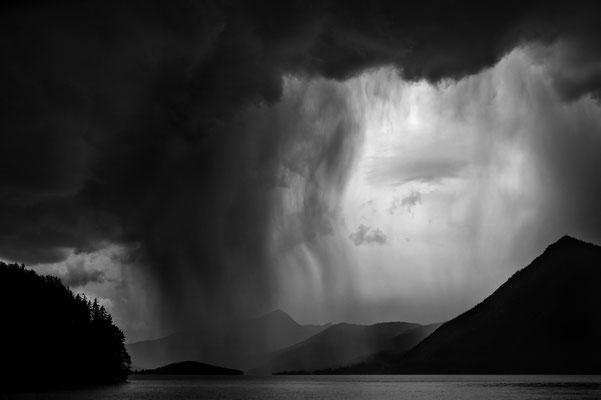 Unwetter und Regen am Walchensee / Deutschland (Bildnummer 4411)